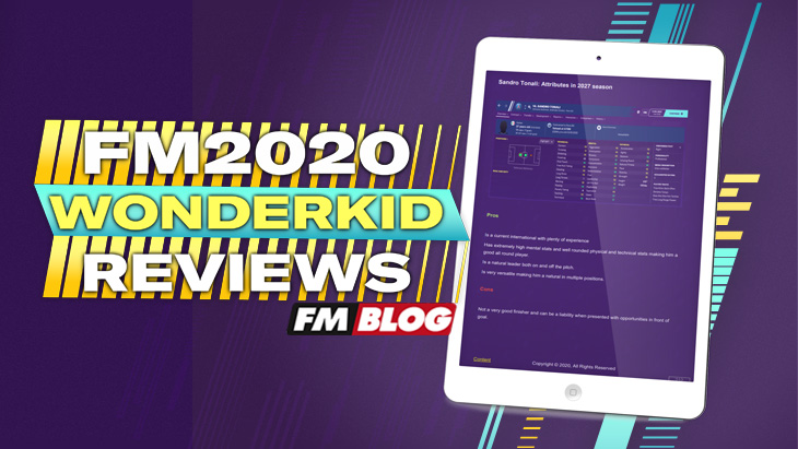 Football Manager 2020 Wonderkid Reviews eBook