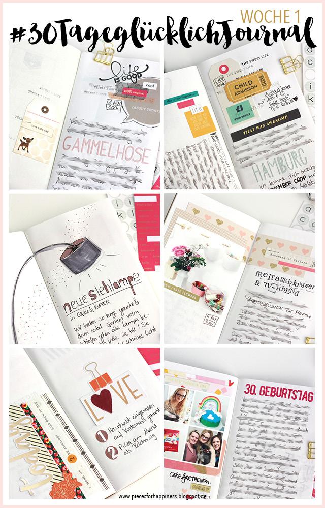 #30TageglücklichJournal | ein Monatsprojekt zum bewussten Leben | piecesforhappiness.blogspot.de