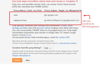 cara menghubungkan blogger ke freenom