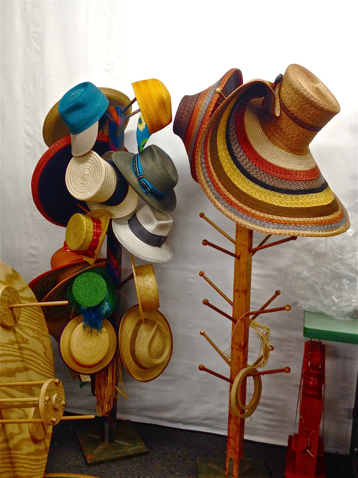 e178e833 Sewn straw braid hats contracted by hat companies waiting to be sent off