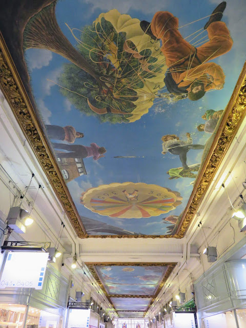 Painted ceiling at Piccadilly Arcade in Birmingham UK