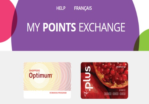 Shoppers Drug Mart Optimum PC Plus Points Exchange