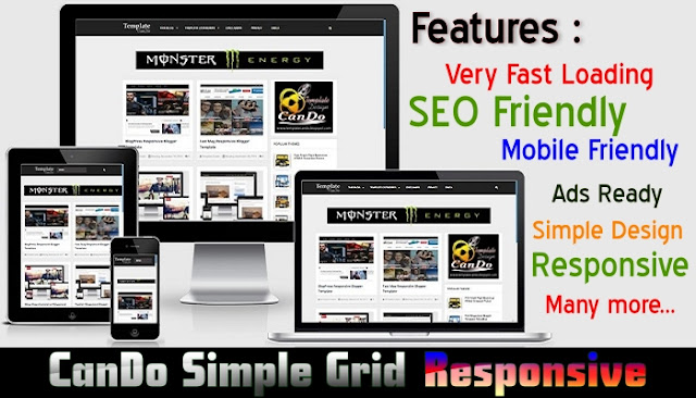 CanDo Simple Grid Responsive Blogger Template