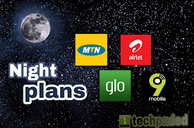 MTN, Airtel, 9Mobile, Ntel and Glo Night Plans subscription codes, validity periods, working time duration and how to check data balance