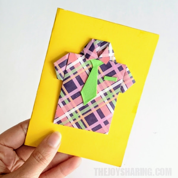 Origami Father's Day Card for Kids