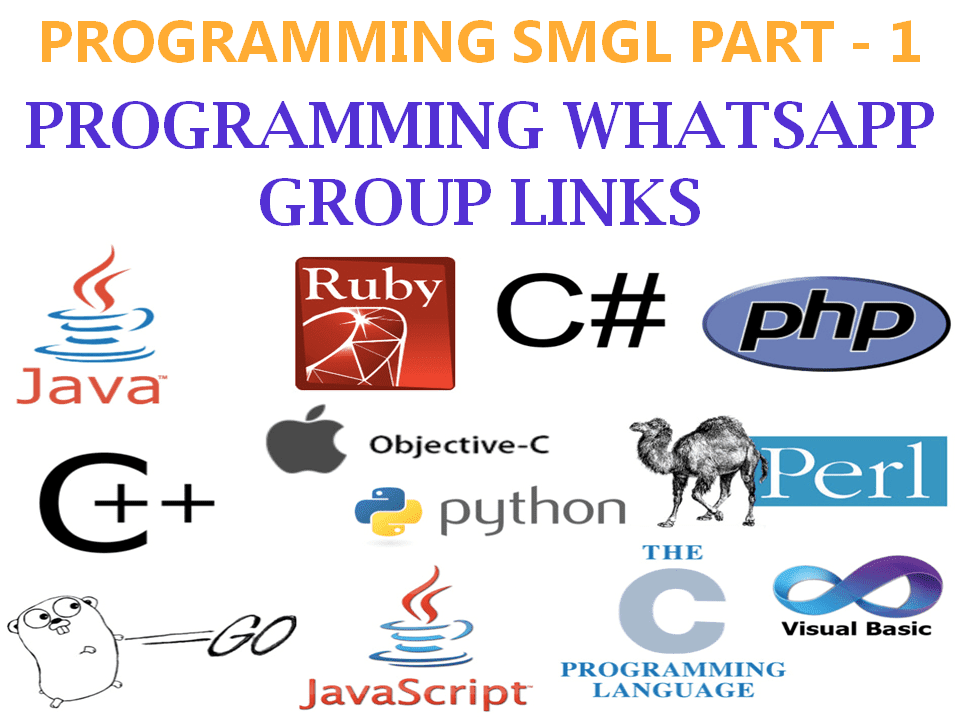 100+ Python, Java, Android, C, C++ Programming WhatsApp Group Links