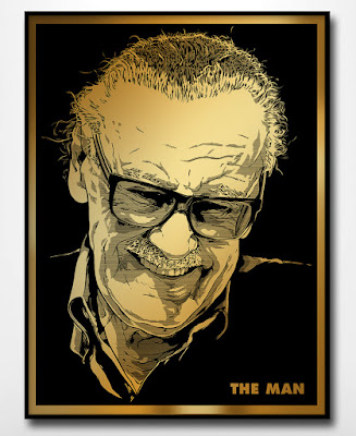 "Stan Lee ""The Man"" Golden Age Edition Screen Print by Joshua Budich x Nakatomi"
