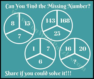 Missing Number Maths IQ Picture Puzzle Question