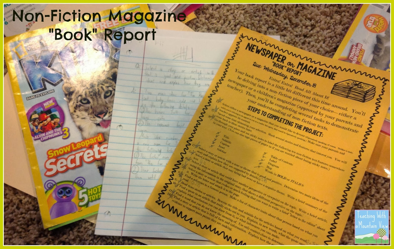 Nonfiction Book Report Grade 5 [ 1010 x 1600 Pixel ]