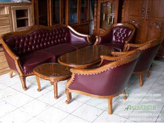 kursi tamu sofa set ukiran model lois