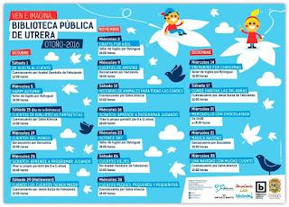 Actividades infantiles Biblioteca Utrera Otoño 2016