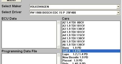 How to program the VAG diesel cars by using Galletto 1260