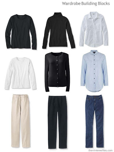 9 piece common capsule wardrobe items