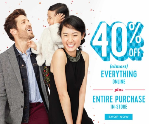 Old Navy Cyber Monday 40% Off + $10 Kids Jeans/$12 Adult Jeans