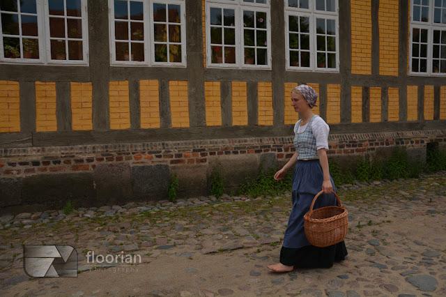Z dzieckiem w Den Gamle By w Duńskim Aarhus