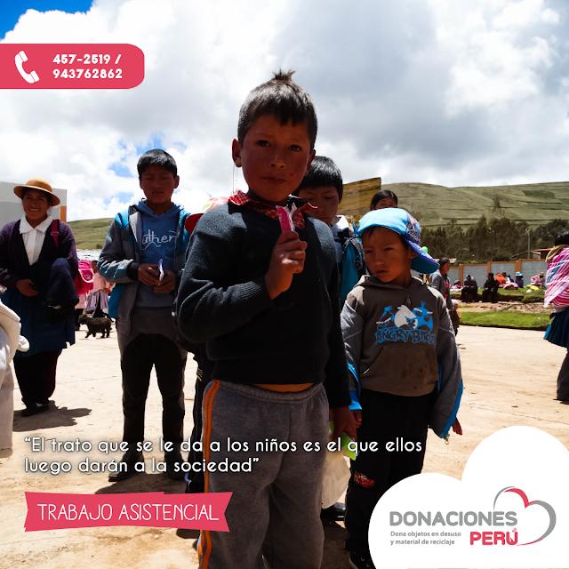 Trabajo asistencial -Donaciones Perú