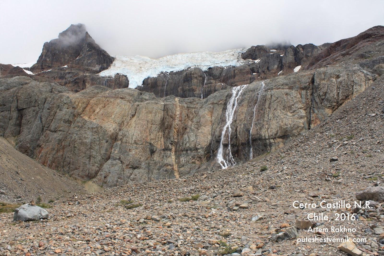 Голые скалы и льды в Серро-Кастильо