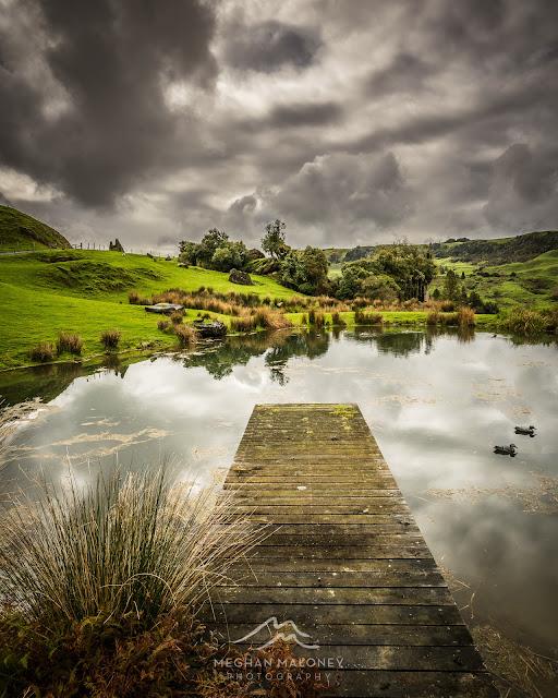 Clouds and lake Hairy Feet, Waitomo
