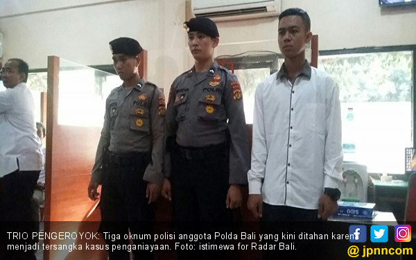 Keroyok Mahasiswa di Indekos, Tiga Oknum Polisi Kini Dikerangkeng