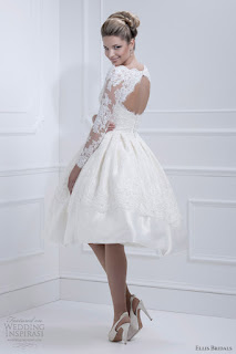 Vestido de noiva simples para casamento de dia