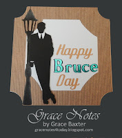 Happy Bruce Day, masculine b-day card by Grace Baxter