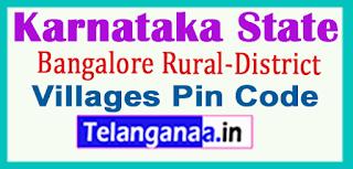 Bangalore Rural District Pin Codes in karnataka State