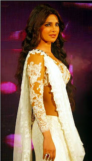 Priyanka-Chopra-White-Ghagra-Choli-dress