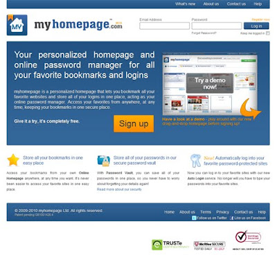myhomepage front page