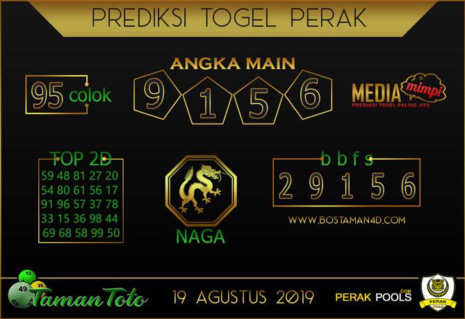 Prediksi Togel PERAK TAMAN TOTO 19 AGUSTUS 2019