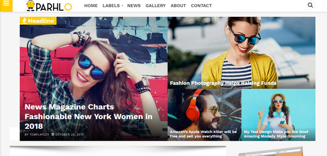 Parhlo Magazine Responsive Blogger Templates