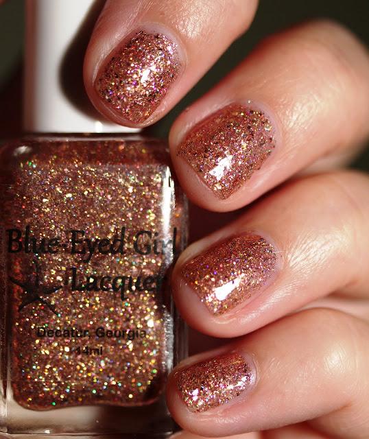 Blue-Eyed Girl Lacquer Siren's Midnight Glitz nail polish
