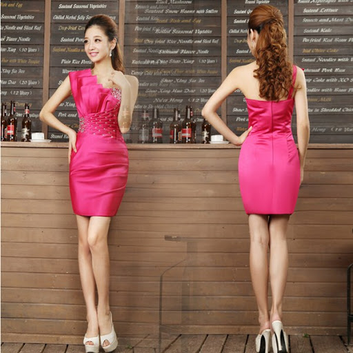 gaun dress pesta ala korea