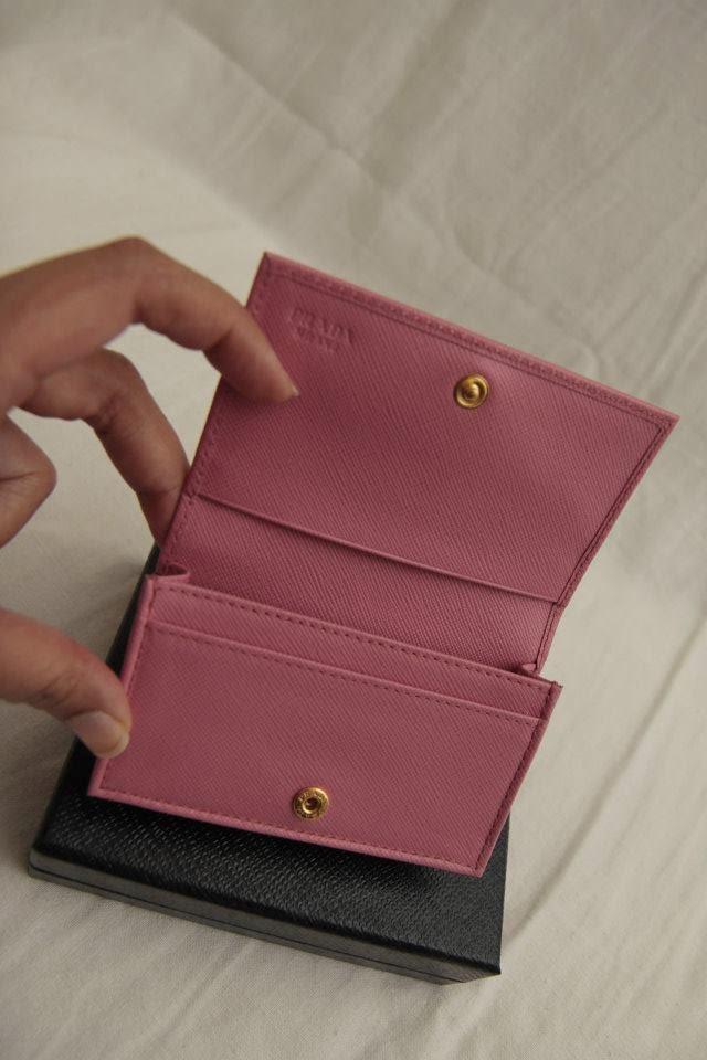 parda bag - Prada 1M1122 Saffiano Bifold Card Case Wallet -Geranio