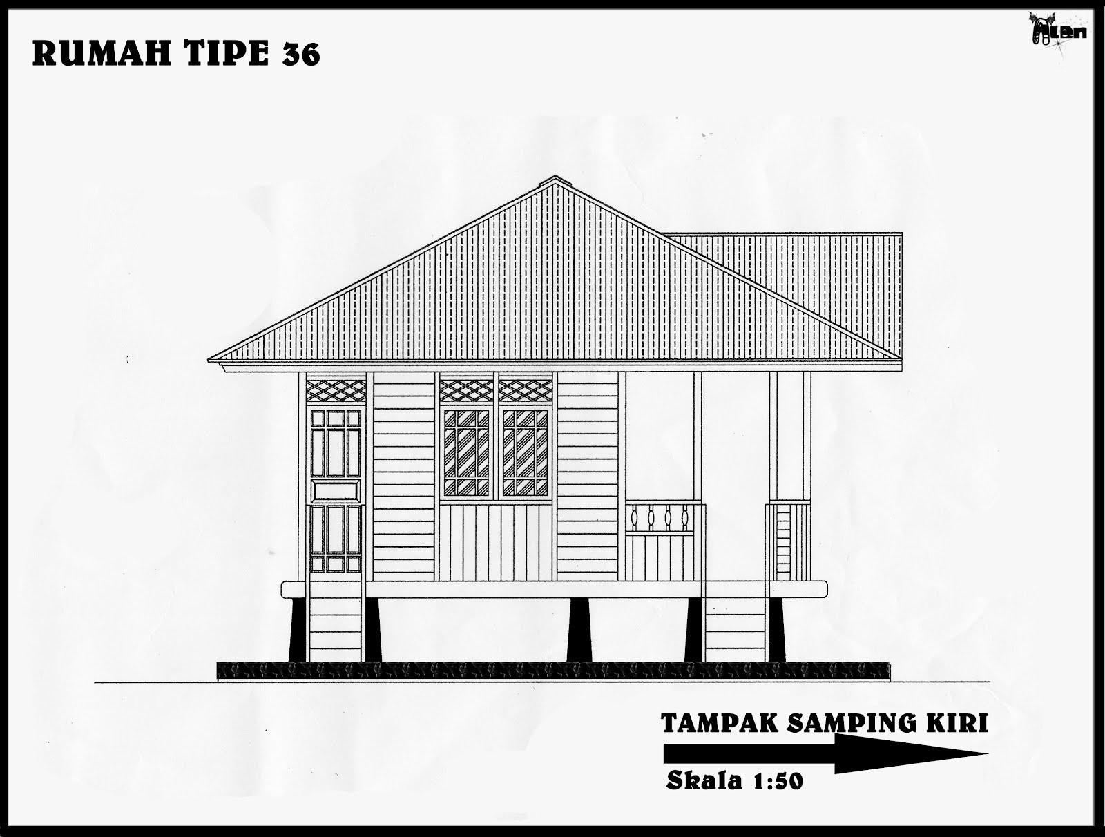 Rumah Panggung Minahasa Woloan Desain Gambar Rumah Ukuran 36