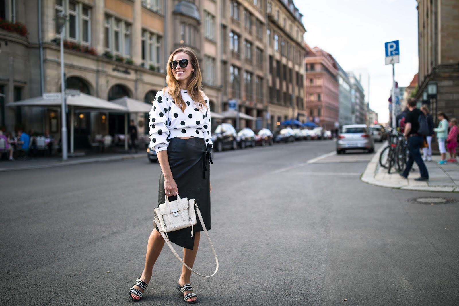 leather skirt summer style