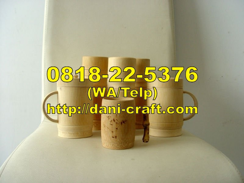 Tempat Harga Jual Gelas Bambu