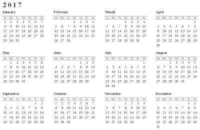 year long calendar