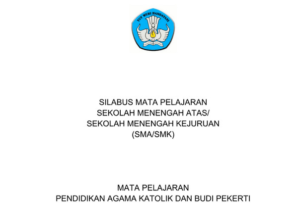 Silabus Agama Katholik Kurikulum 2013 Revisi 2017 PDF