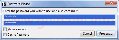 TruPax finestra Password Please