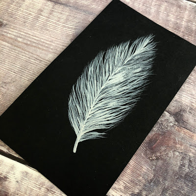Painted feather from You Can Folk It