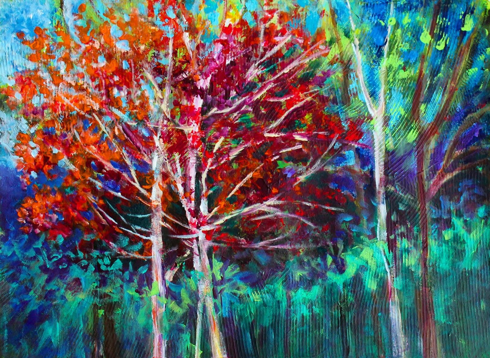 priti lathia s fine art fall of colors abstraction