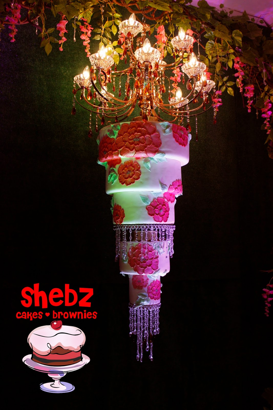 Shebz cakes cebu cebu chandelier cake painting trimmed with swags skip the typical 3 tiered white wedding cake and go for something unique unusual and unconventional that will represent you both arubaitofo Image collections