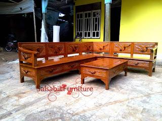 Kursi Sudut Daun Minimalis CKT025 - salsabilfurniture.com - 085875166325
