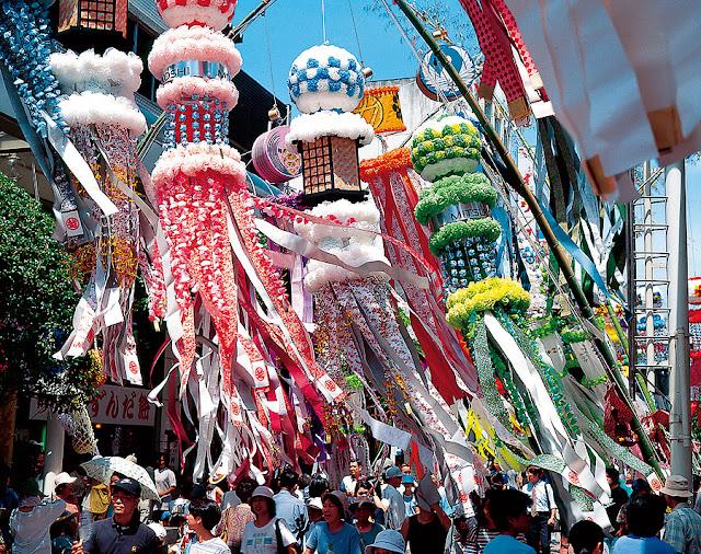 Tanabata Star Festival in Sendai City, Miyagi Pref.