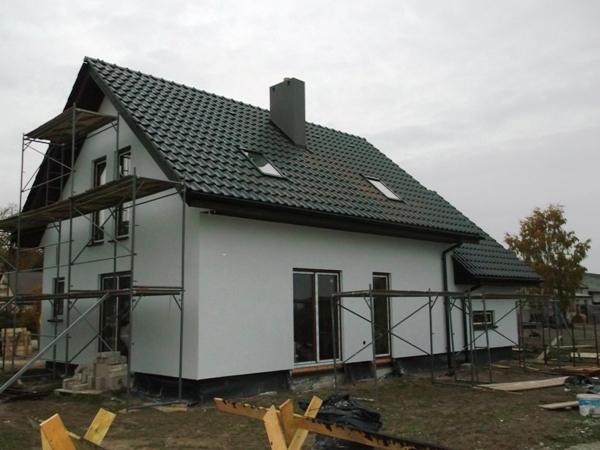 dom drewniany szkieletowy - wykończenie