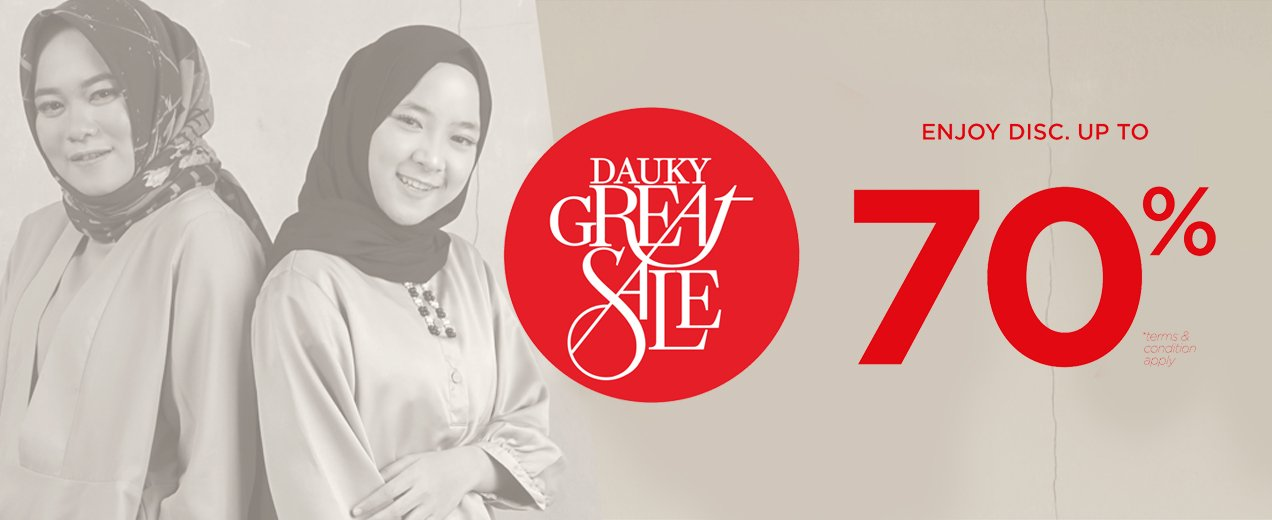#Dauky - Promo Diskon s.d 70% di Dauky Great Sale