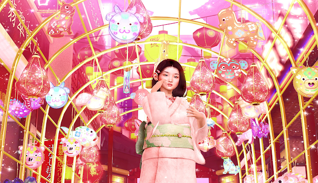 hanabi, japanese, lanterns, girl, gwin leshelle