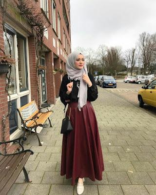 Hijab Moderne avec robe longue - Style 2019