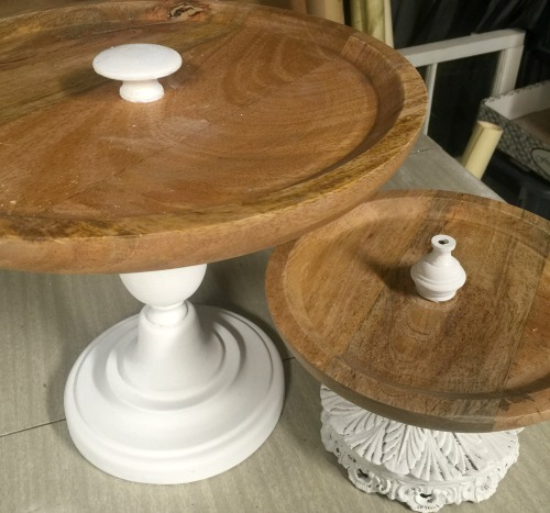 How to Make Wooden Pedestal Dishes from Lamp Parts