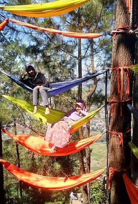 hammock, batu, paralayang, omah kayu